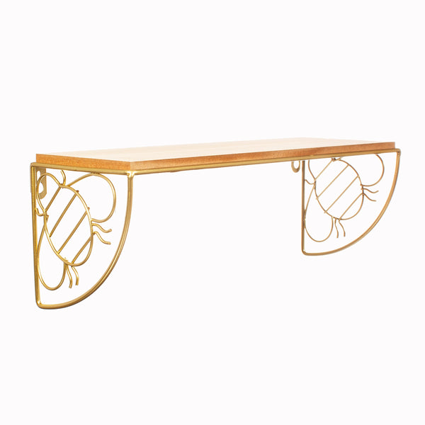 Bumble Bee Wall Shelf Gold