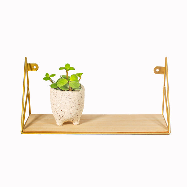 Geometric Gold Wall Shelf