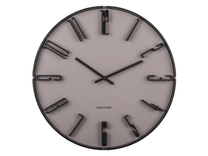 Retro Ash Grey Wall Clock
