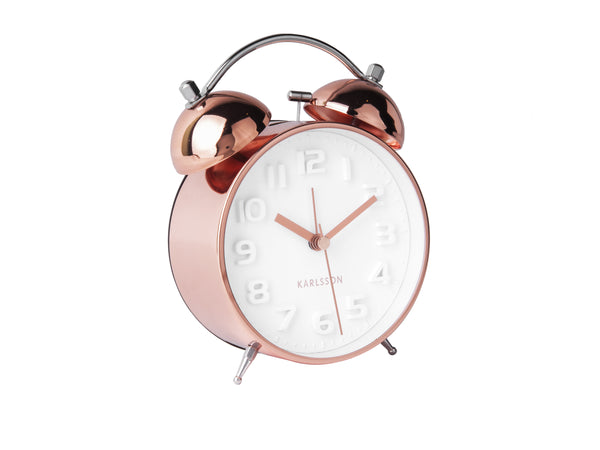 Rose Gold Traditional Alarm Clock