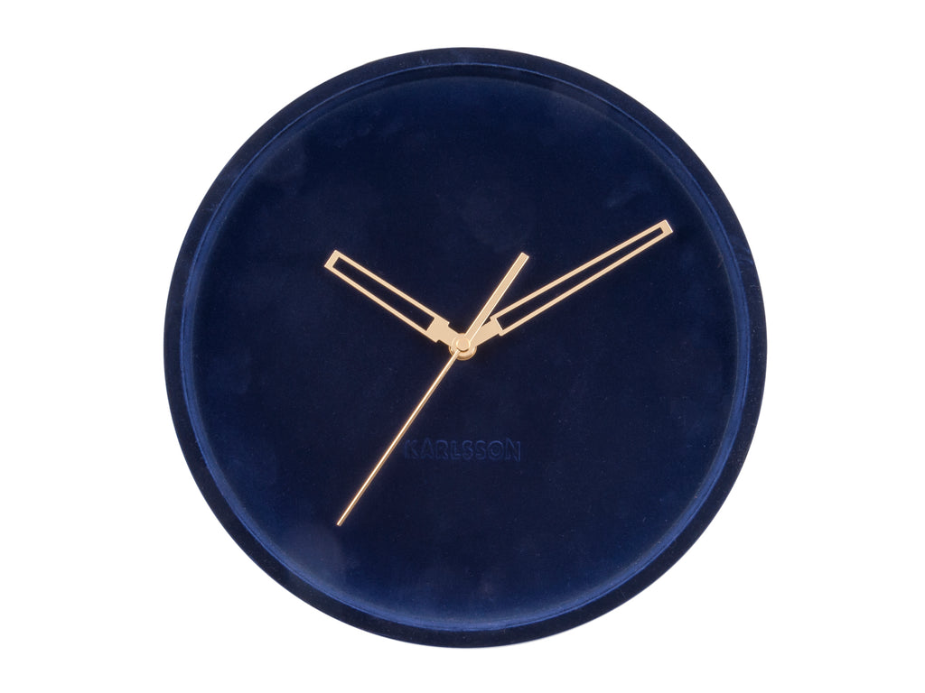 Velvet Wall Clock Navy