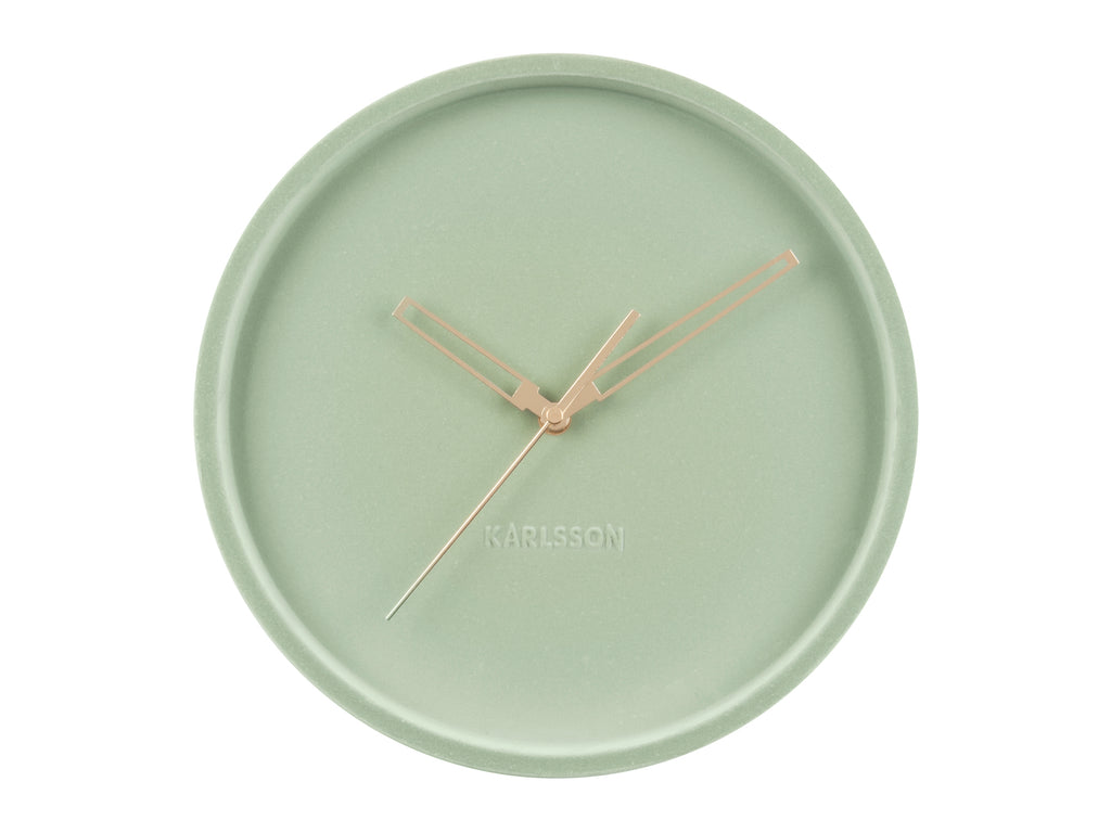 Velvet Wall Clock Lime Mint
