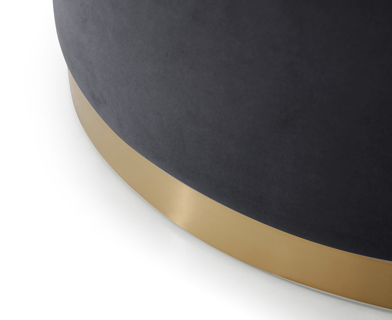 Oregon Velvet Pouffe Navy