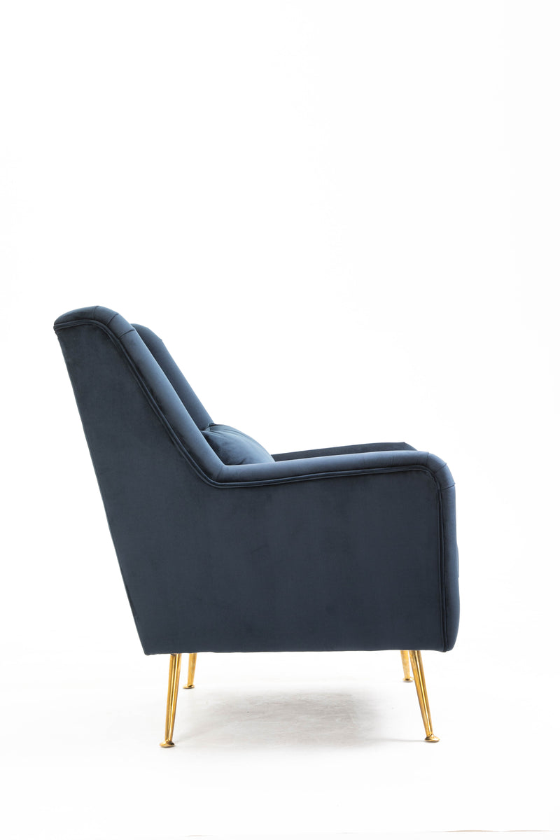 Maple Armchair Velvet Ink Blue