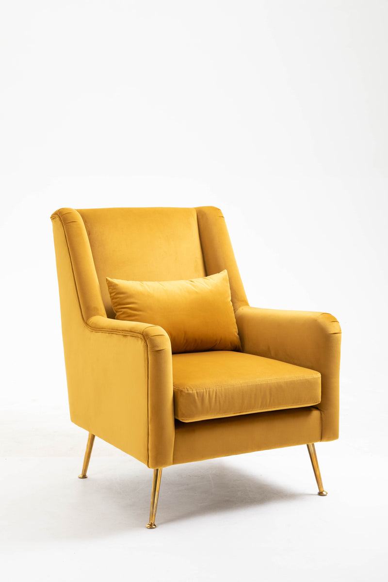 Maple Armchair Velvet Mustard