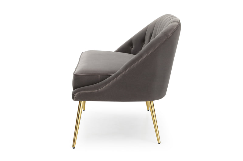 Oyster Velvet Cocktail Chair