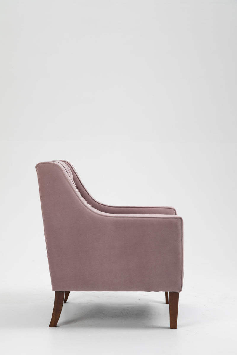 Chesterfield Blush Velvet Armchair