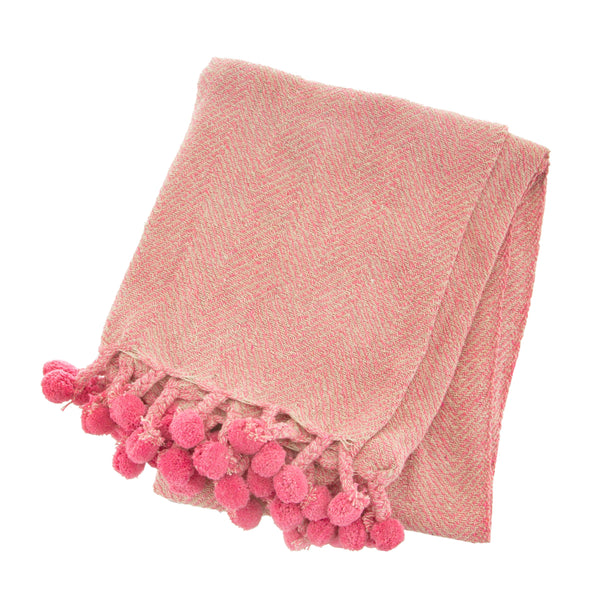 Blush Oat Throw