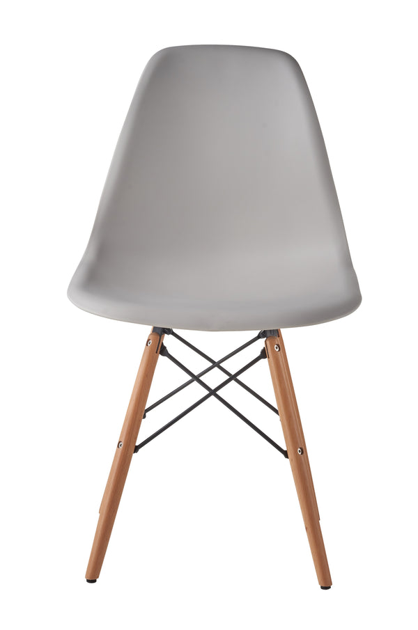 Eames Style Wooden Chair Warm Grey