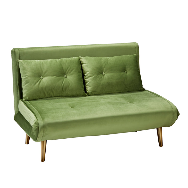 Bungalow Velvet Sofa Bed Aloe Green