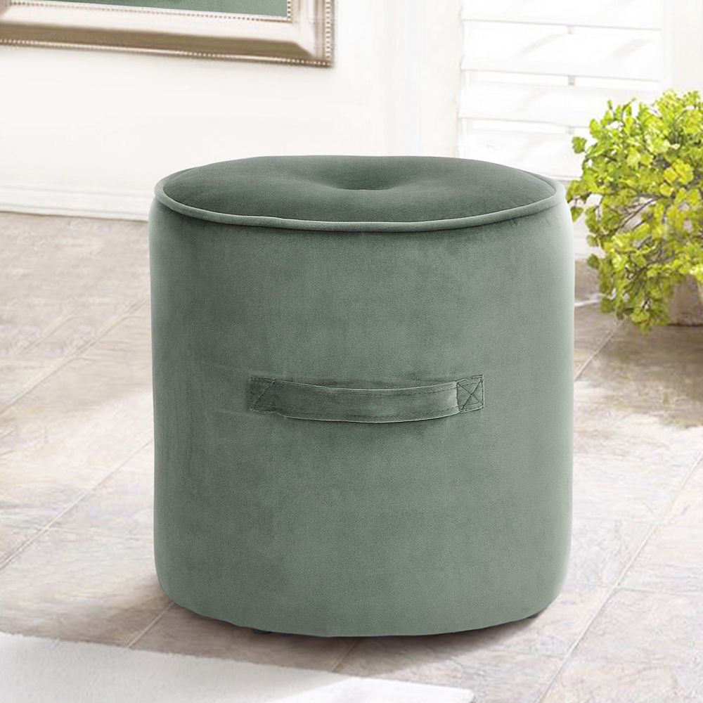 Velvet Footstool Mint