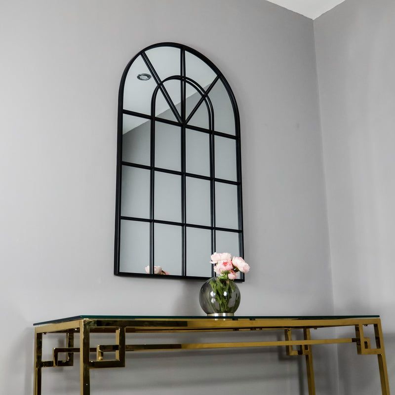 Arched Mirror Black