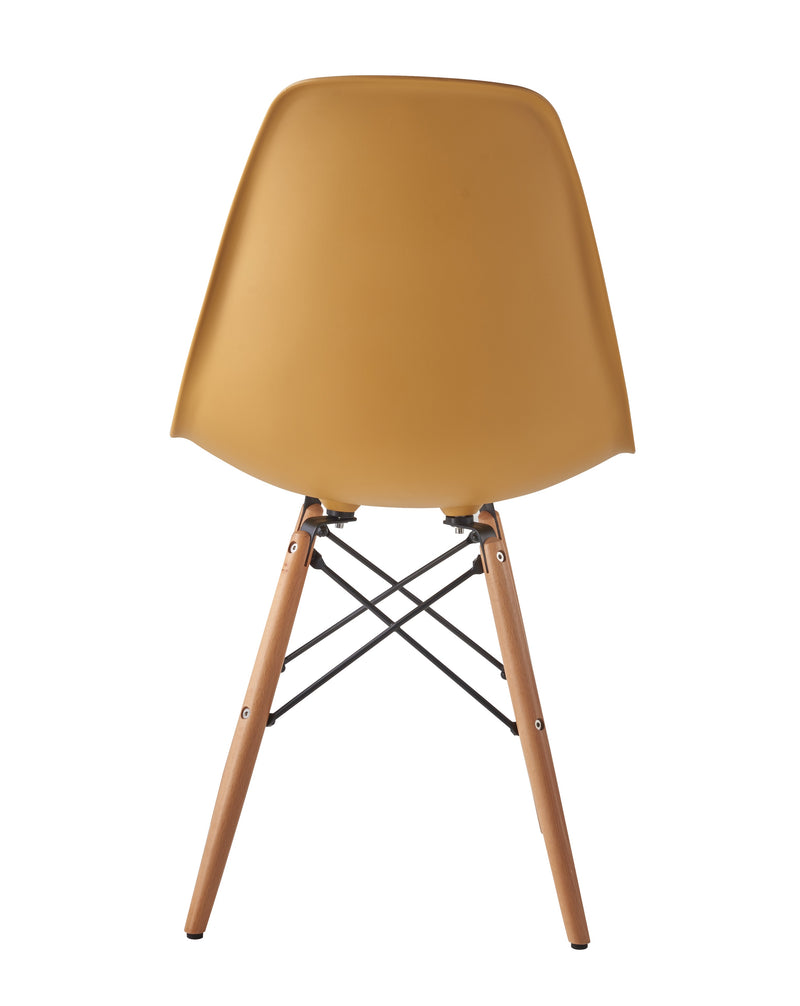 Eames Style Wooden Chair Mustard