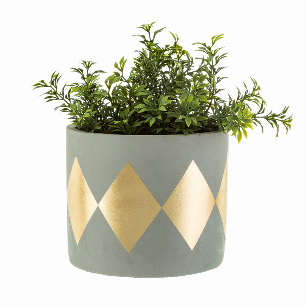 Diamond Gold Concrete Planter