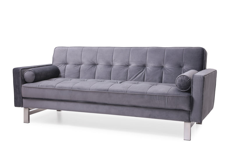Tallulah Velvet 3 Seater Sofa Bed Grey