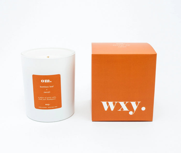 Om. | WXY Scented Candle | Bamboo Leaf & Neroli
