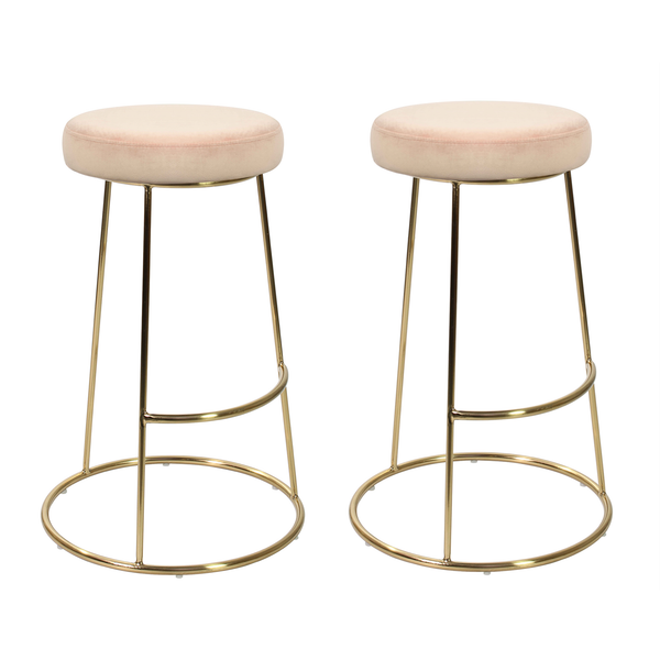 Set of 2 La Boheme Stool Blush
