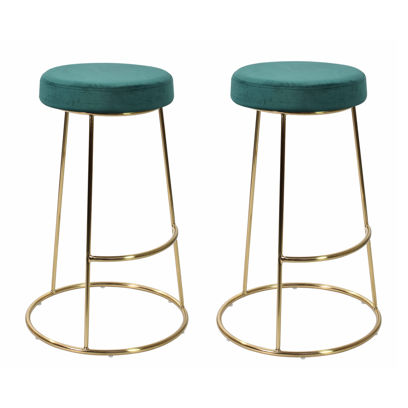 Set of 2 La Boheme Stool Dark Teal