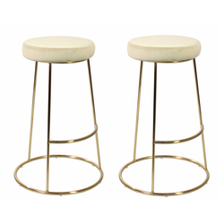 Set of 2 La Boheme Stool Champagne