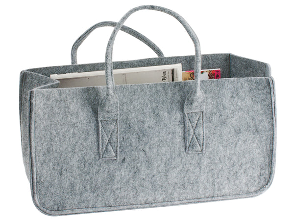 Felt Storage Magazine Holder Grey