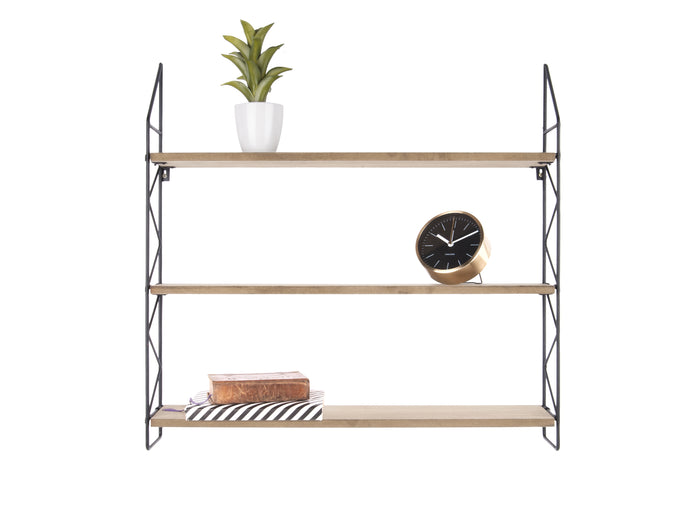 3 Tier ZigZag Shelf Natural & Black