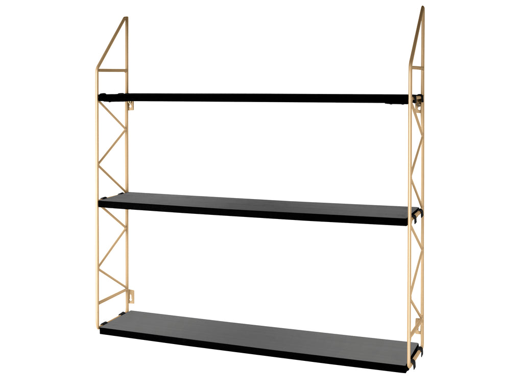 3 Tier ZigZag Shelf Gold