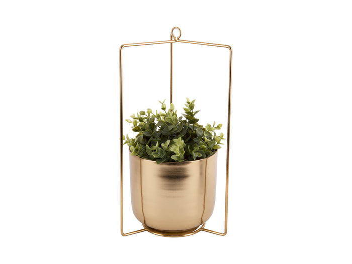 Antique Gold Hanging Planter