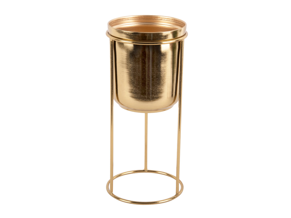 Antique Gold Standing Planter