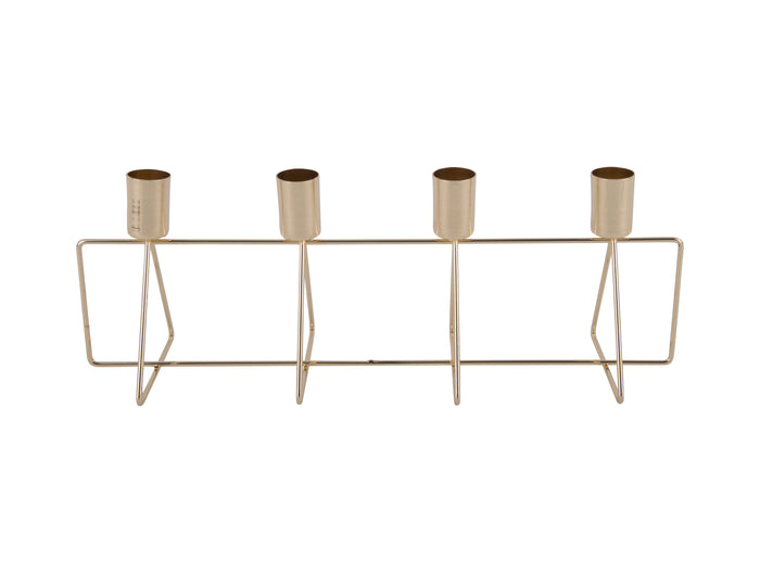 Gold 4 Way Candle Stick Holder