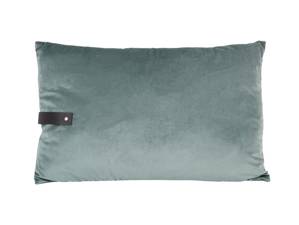 Mint Strap Velvet Cushion