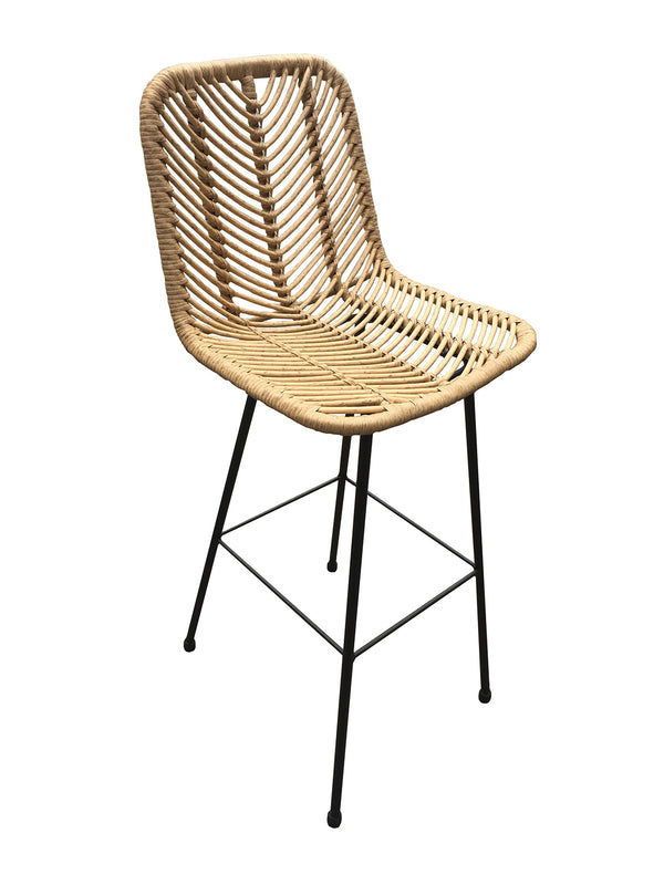 Set of 2 Rattan Bar Stool