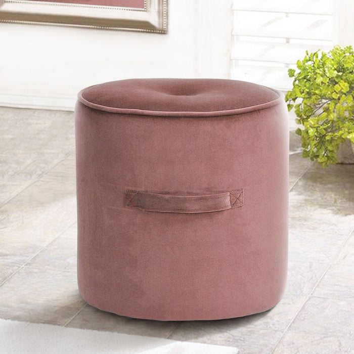 Velvet Footstool Rose