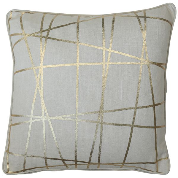 Gold Geometric Cushion Filled