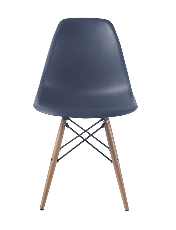 Eames Style Wooden Chair Steel Grey