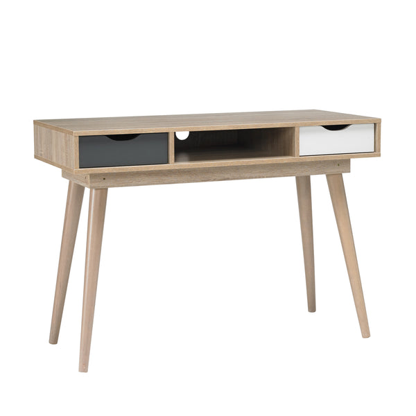 Scandi Desk Grey/White
