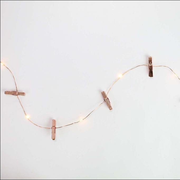 Rose Gold Photo Clip Fairy Lights