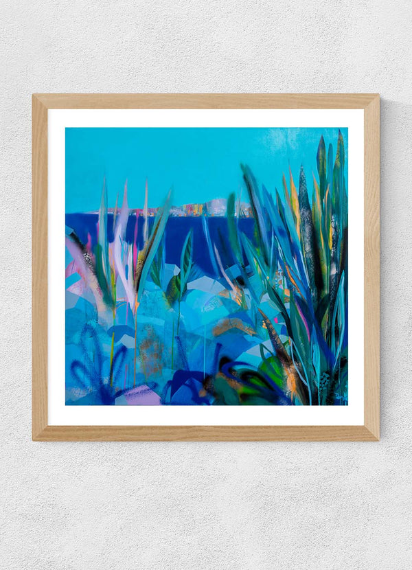 Blue Sky Hot Rocks Print