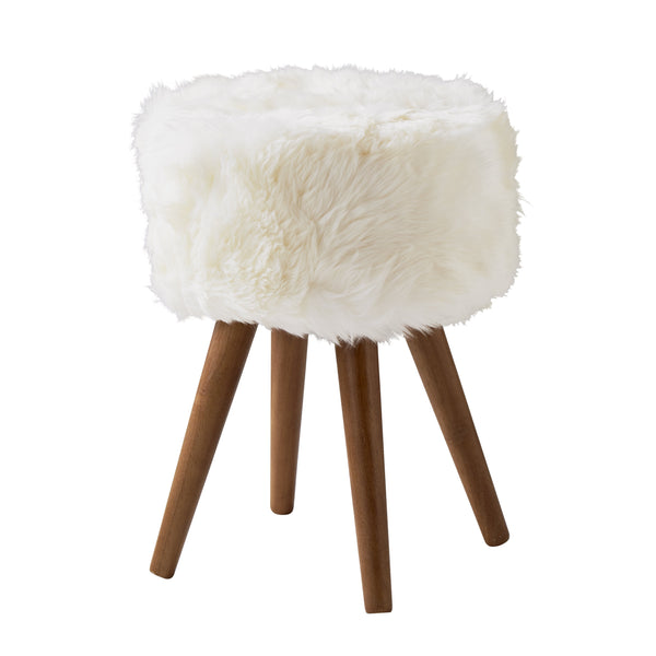 Sheepskin Stool Natural