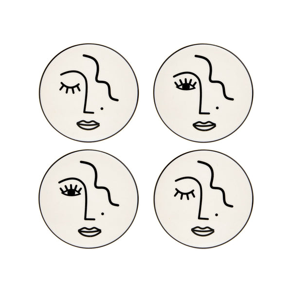 Set of 4 Woman Coasters