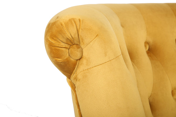 Frida Velvet Chair Mustard