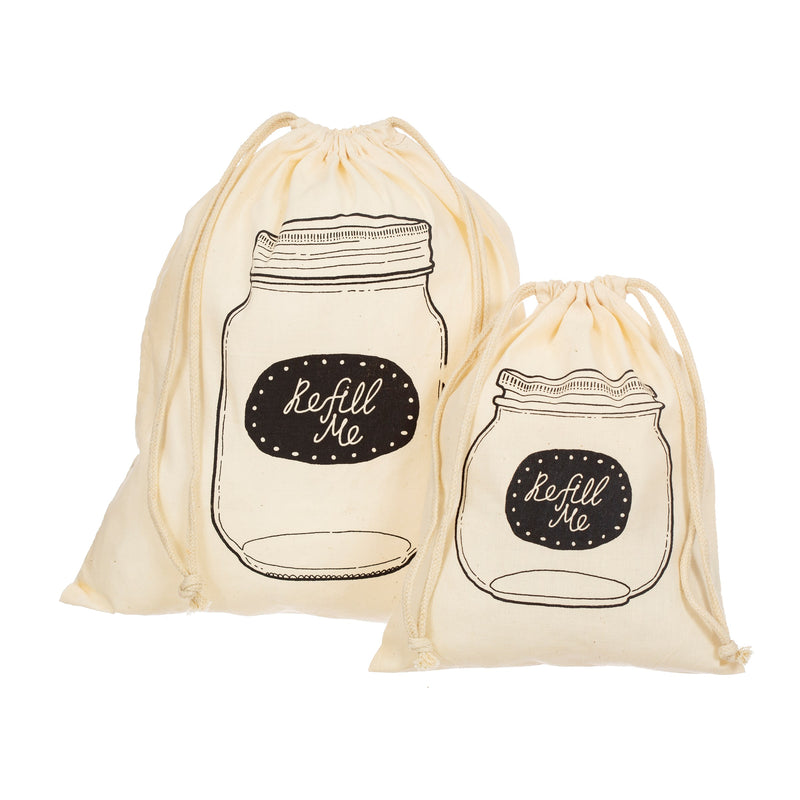 Set of 2 Cotton Refill Bags
