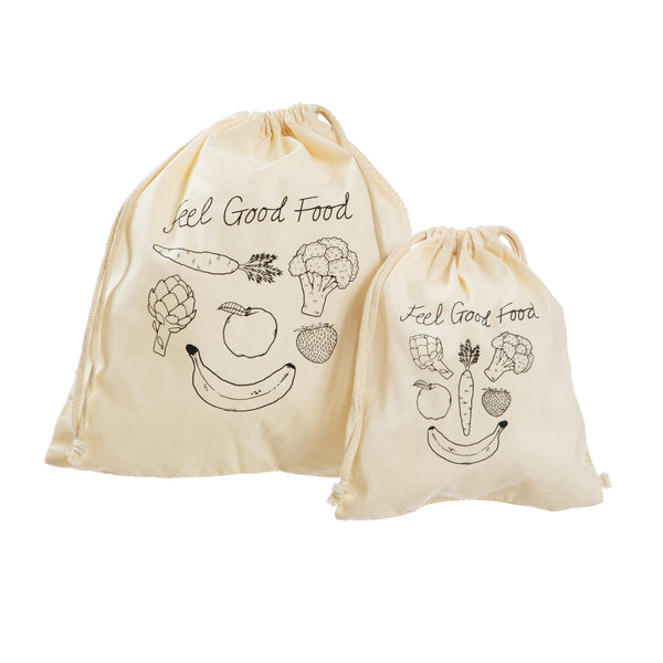 Set of 2 Cotton Grocery Bags