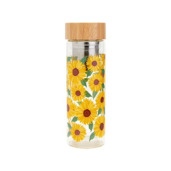 Sunflower Glass Infuser Bottle