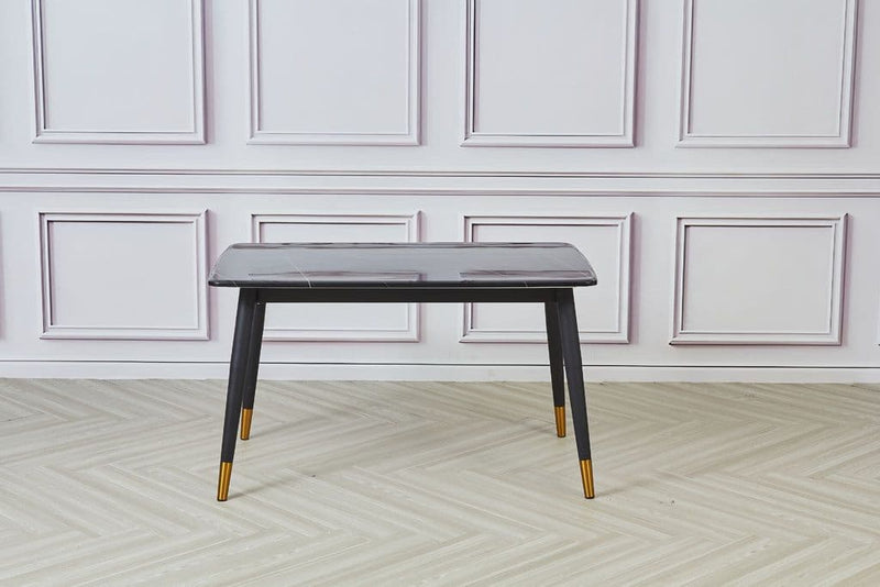 Hemlock Marble Dining Table Black