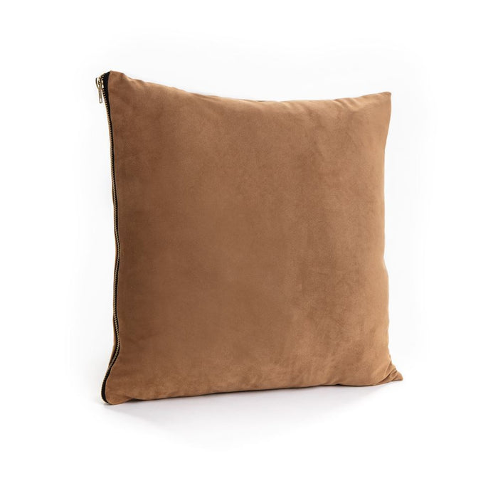 Suede Zip Cushion Filled