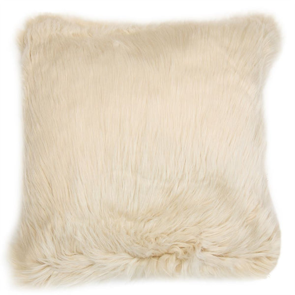 Faux Fur Oat Cushion Filled