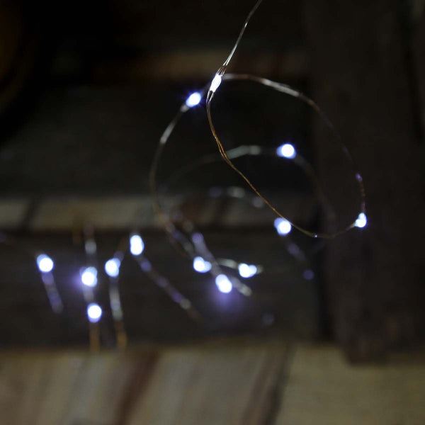 5M Micro Fairy Lights White Indoor/Outdoor