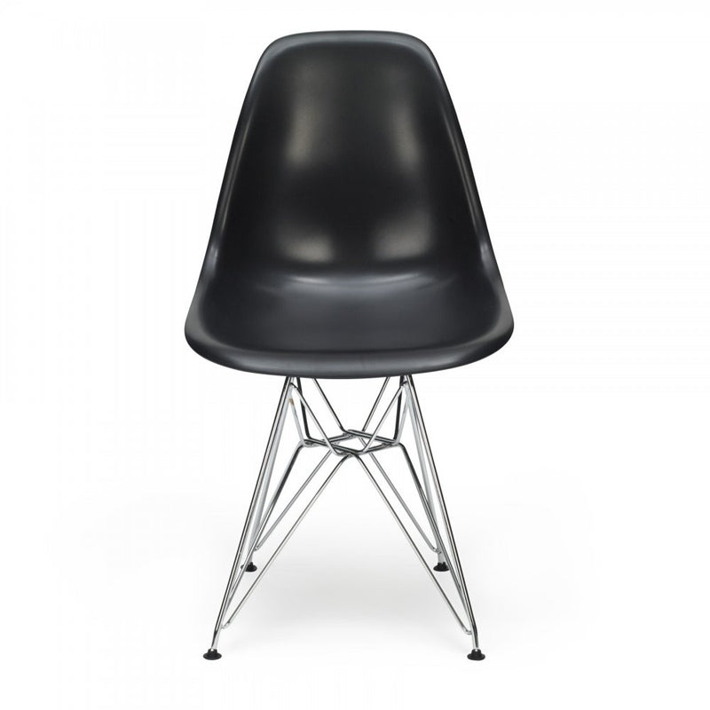 Set of 4 Eames Style Metal Chair Black