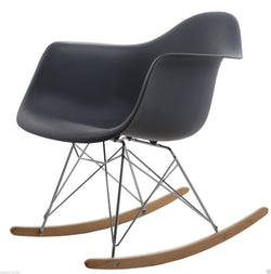 Rocking Eames Style Tub Chair Black