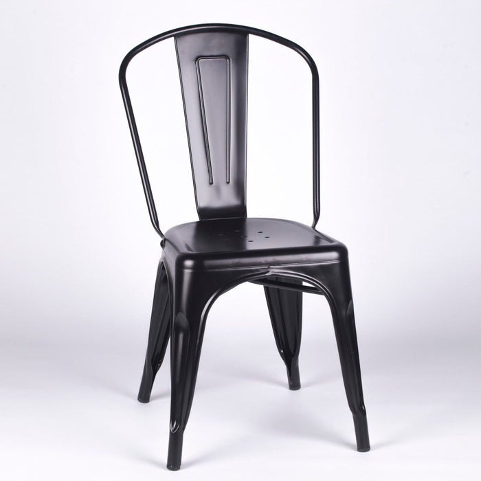 Tolix Style Chair Black